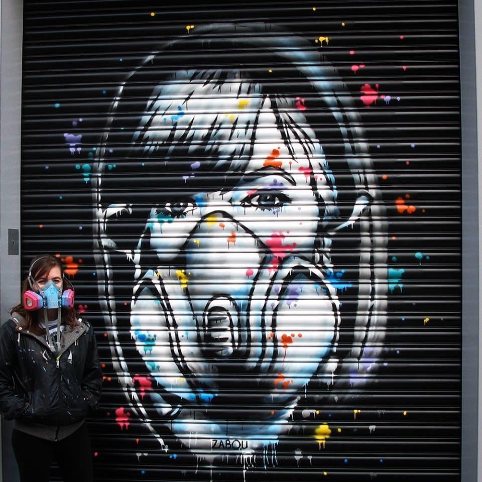 ZABOU – the most unpredictable stencil girl