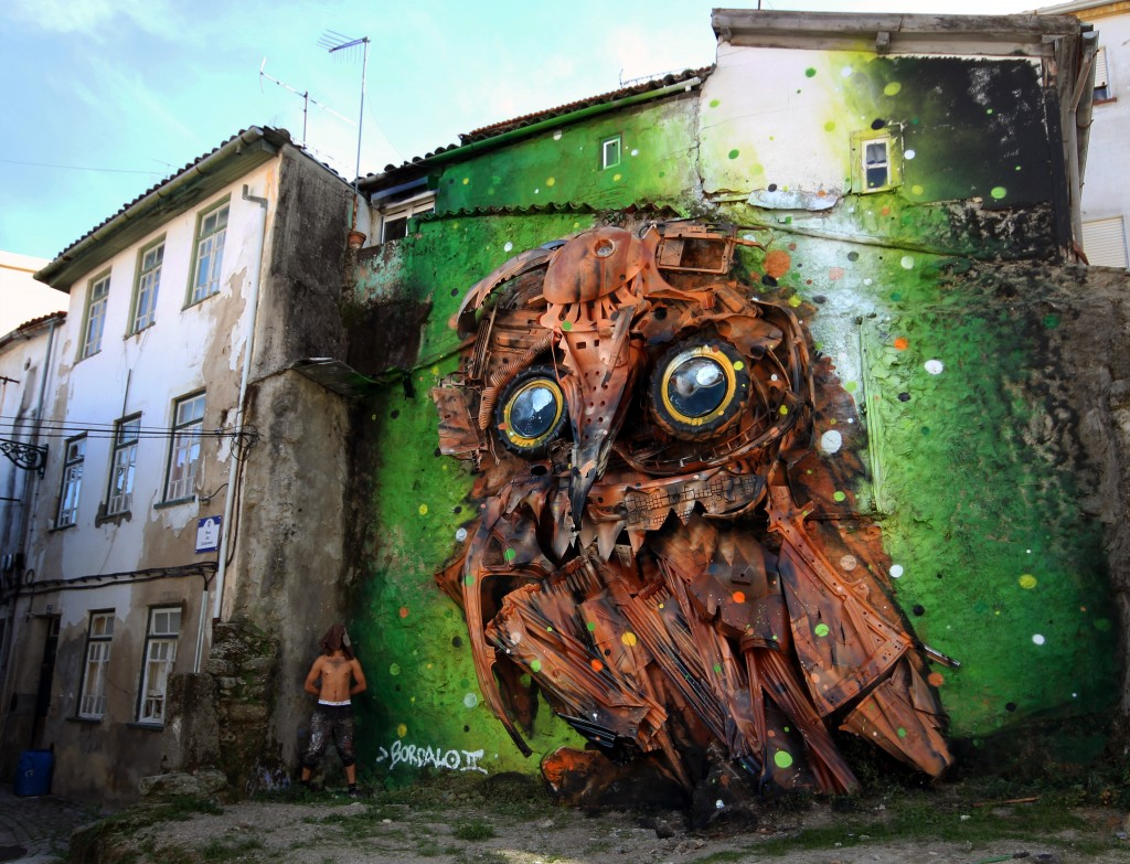 Trash art – Owl Eyes