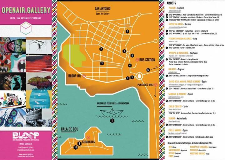 BLOOP   Festival in IBIZA Spain. OPENAIR STREET ART GALLERY