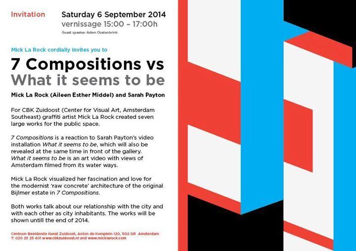 """""""7 COMPOSITIONS"""" Exhibition Mick La Rock"""