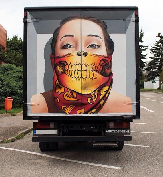 ChemiS art on a truck