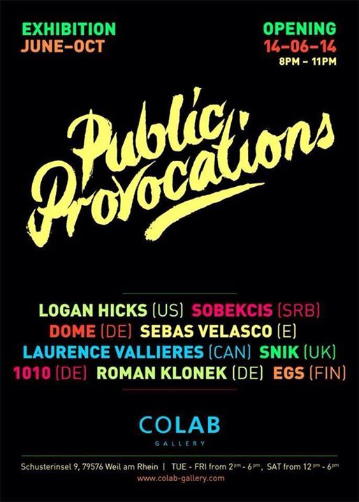 """Exhibition """"PUBLIC PROVOCATIONS"""" COLAB Gallery (Germany)"""