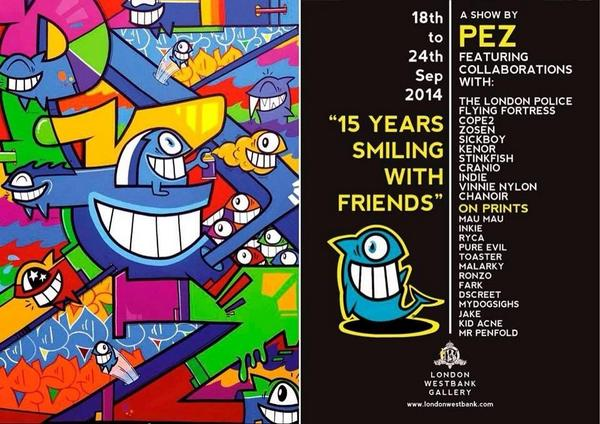 "Exhibition PEZ ""15 years smiling with friends"" LONDON"