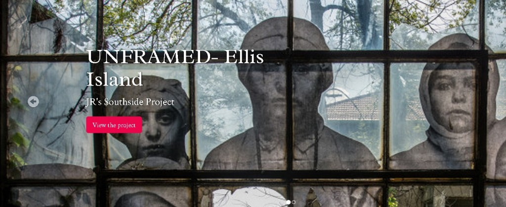 "Exhibition ""Unframed – Ellis Island"" JR project"