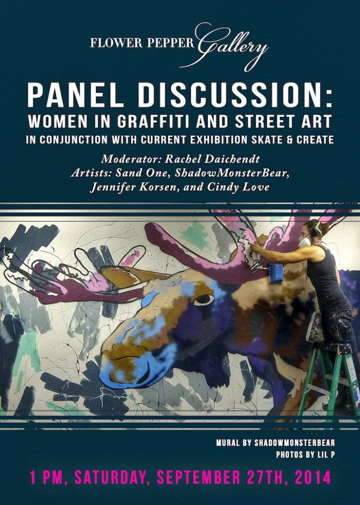 Panel discussion: WOMEN IN GRAFFITI AND STREET ART