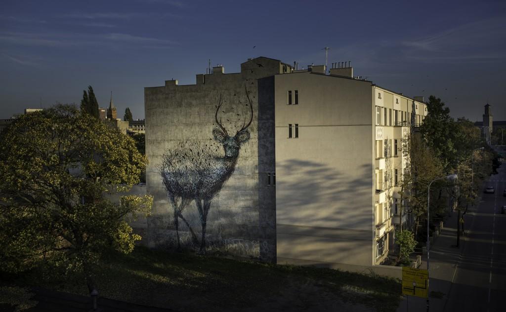New Daleast wall in Lodz, Poland