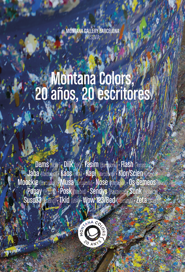 Exhibition. Montana Colors: 20 años, 20 escritores. Barcelona