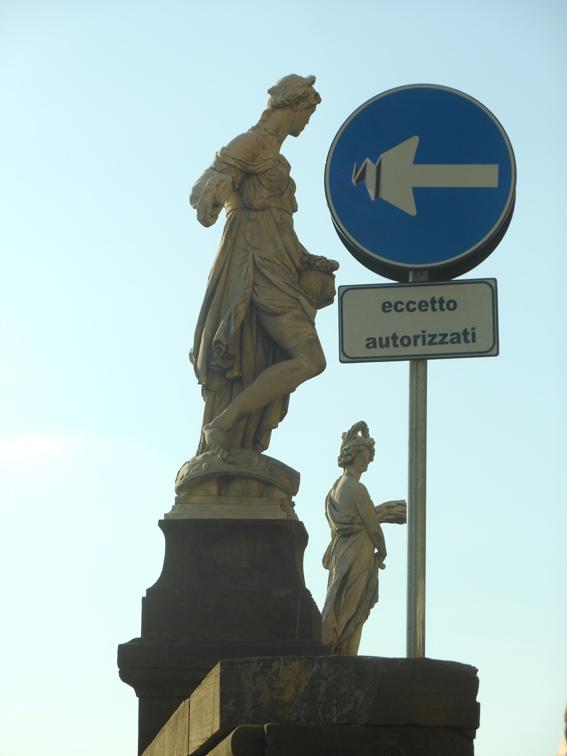 """CLET's """"la flèche émoussée"""" (blunt arrow) - Florence Italy"""