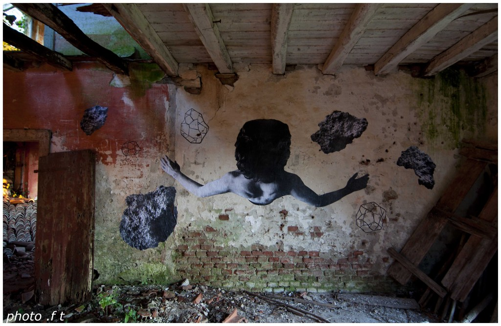 Carne creations on abandoned walls
