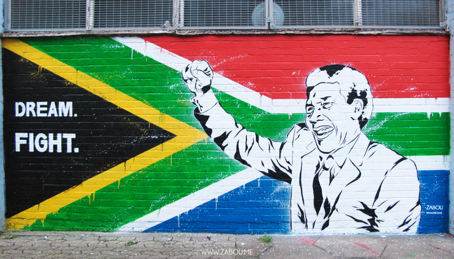 Mandela Tribute on walls