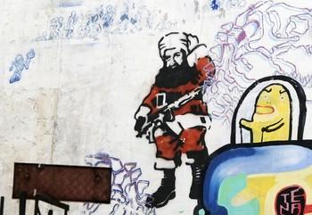 A graffiti of Al Quaeda leader Osama Bin