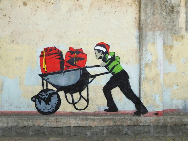 Underage and Overworked Elves by Tyler in Mumbai, India