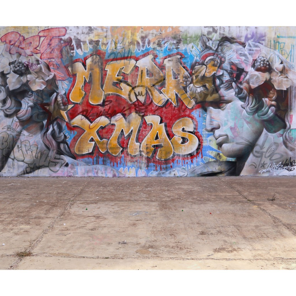 PichiAvo Wild Style Christmas & Dionysos Wall