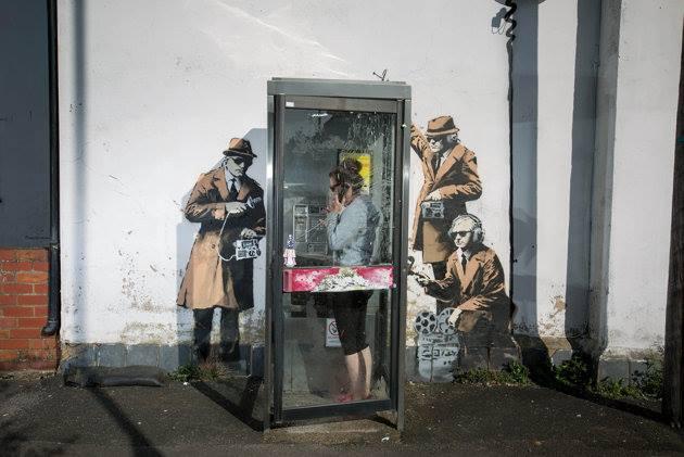 Banksy Cheltenham, Gloucestershire, UK.
