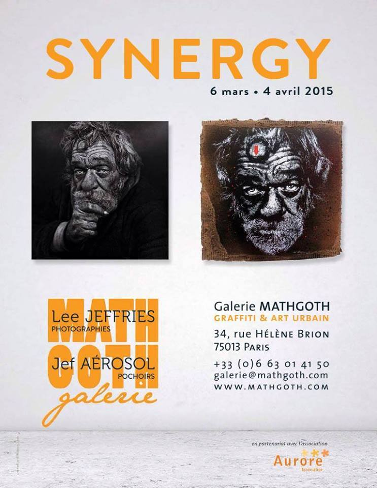"Exhibition""Synergie"" by Jeff Aerosol & Lee Jeffries. Paris. France"