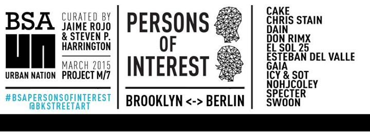 "Group exhibition ""PERSONS OF INTEREST"" Berlin, Germany."