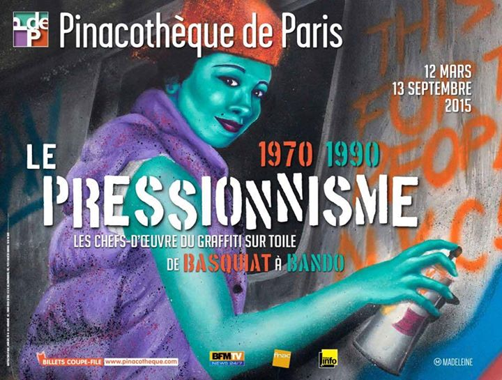 Exhibition « Pressionism, the Masterpieces of Graffiti on Canvas from Basquiat to Bando» Paris, France.
