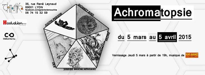 """Group exhibition """"Achromatopsie"""" Lyon, France."""