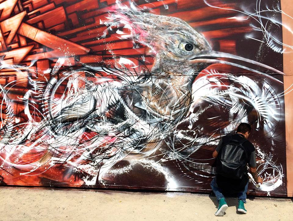 l7m part in the largest mural in the world in Dubai