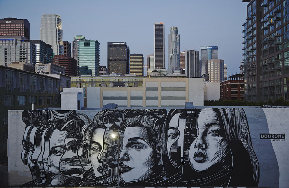 DOURONE completes second mural in LA