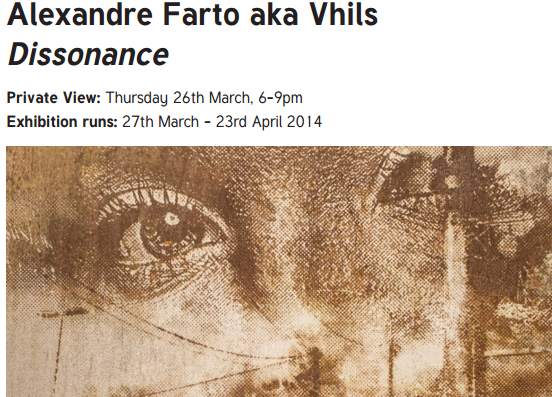 "Exhibition ""Dissonance"" by VHILS ,London."