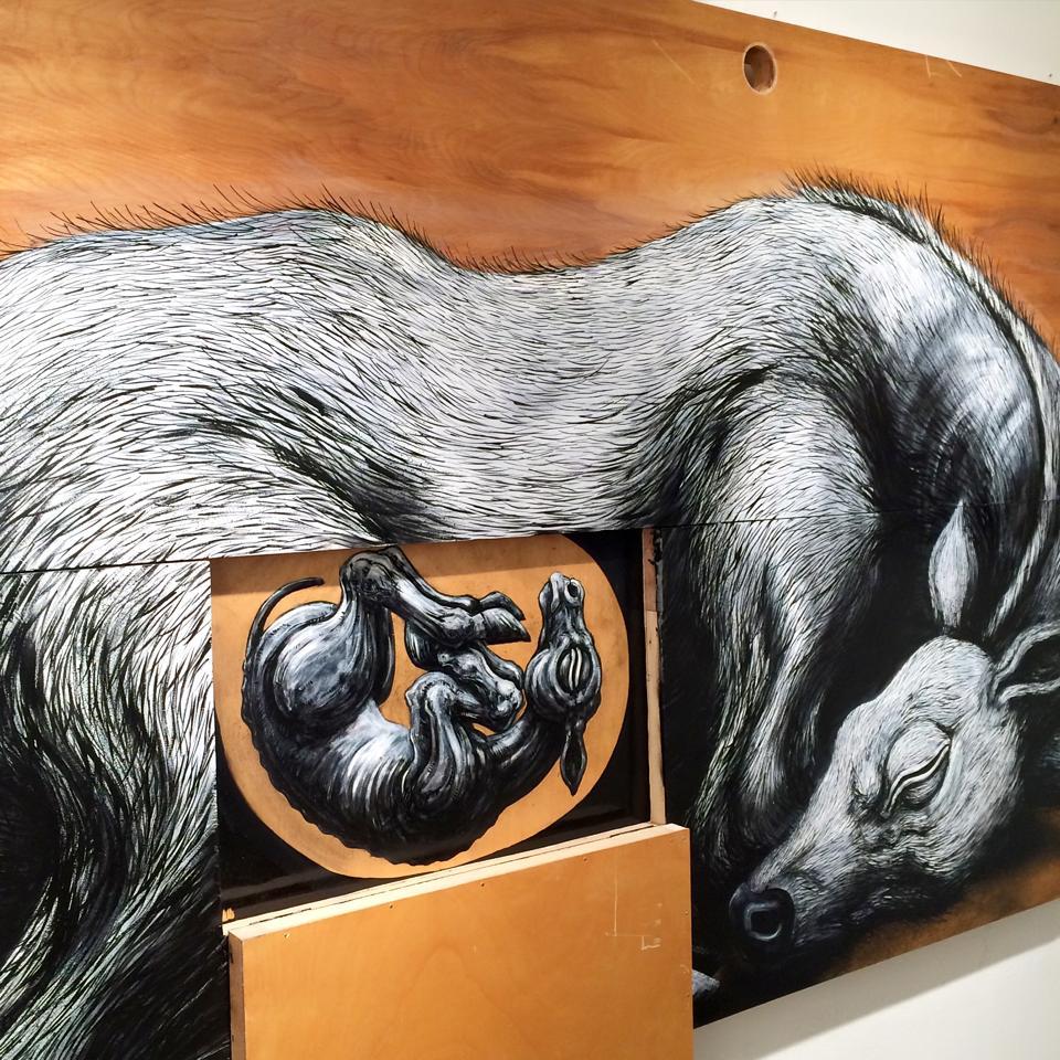 """Exhibition""""Metazoa"""" by ROA, New York, EEUU"""