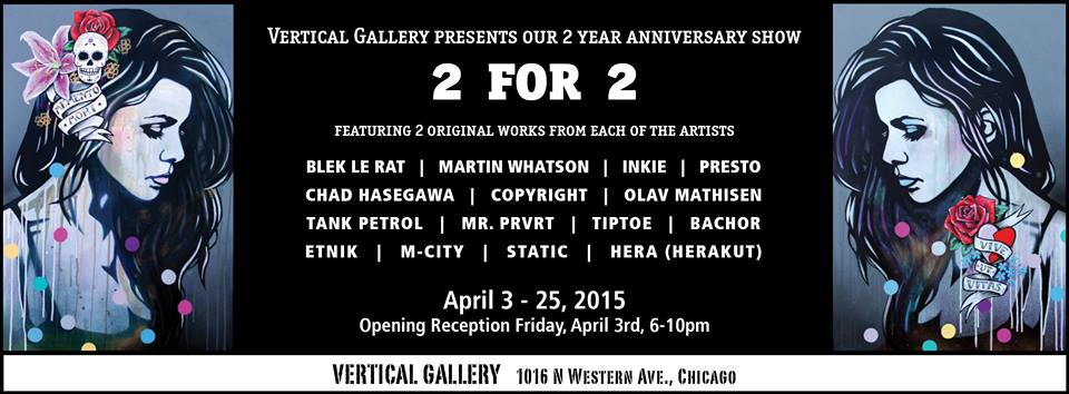 """Group show """"2 for 2"""" Chicago,EEUU"""