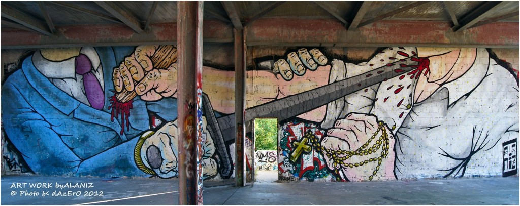 Alaniz for Art Base 2012 on Teufelsberg