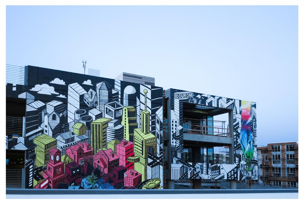NEW DOURONE'S MURAL AT PLAYA VISTA, WEST SIDE LOS ANGELES