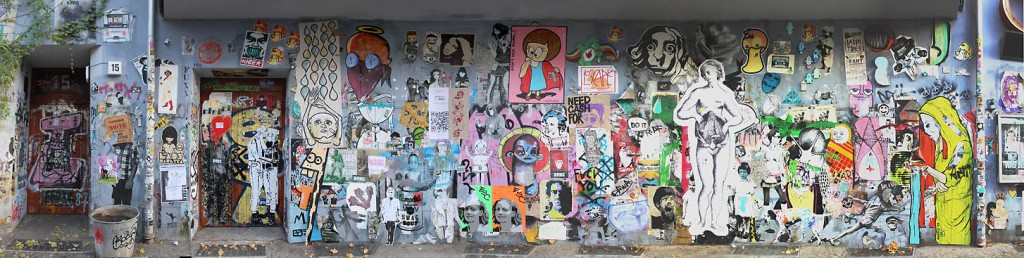 Naturally formed Street Art Gallery at Kino Intimes Berlin 2012