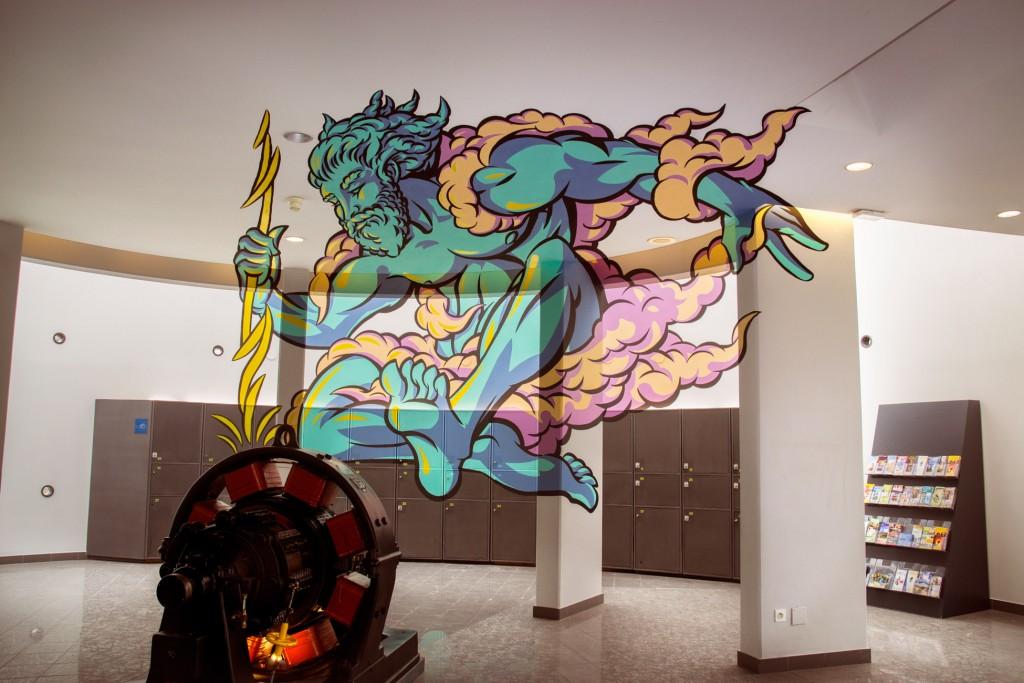 Zeus anamorph – Musée EDF Electropolis