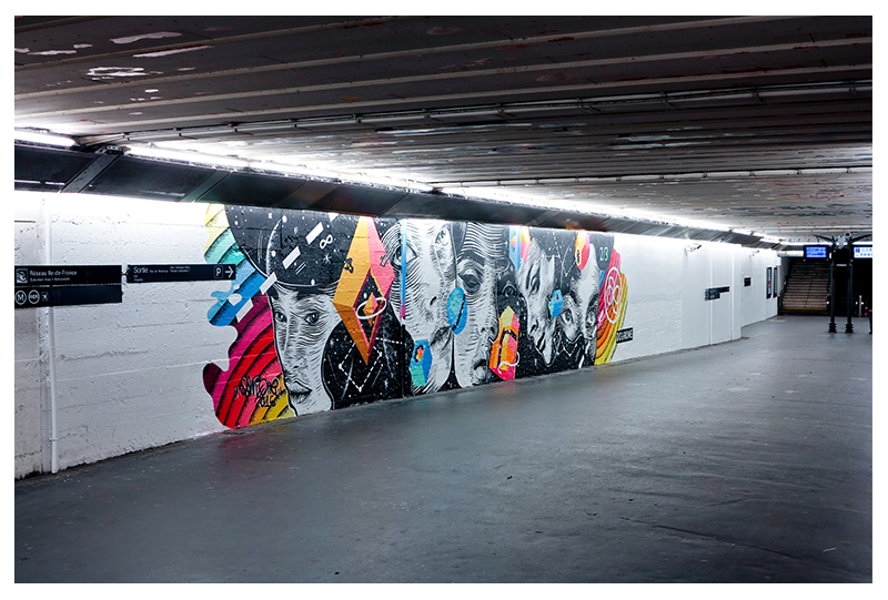 DOURONE'S SECOND MURAL AT GARE DU NORD PARIS