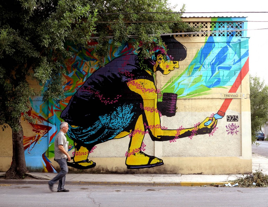 New Stinkfish wall in Monterrey – Mexico for Callegenera festival