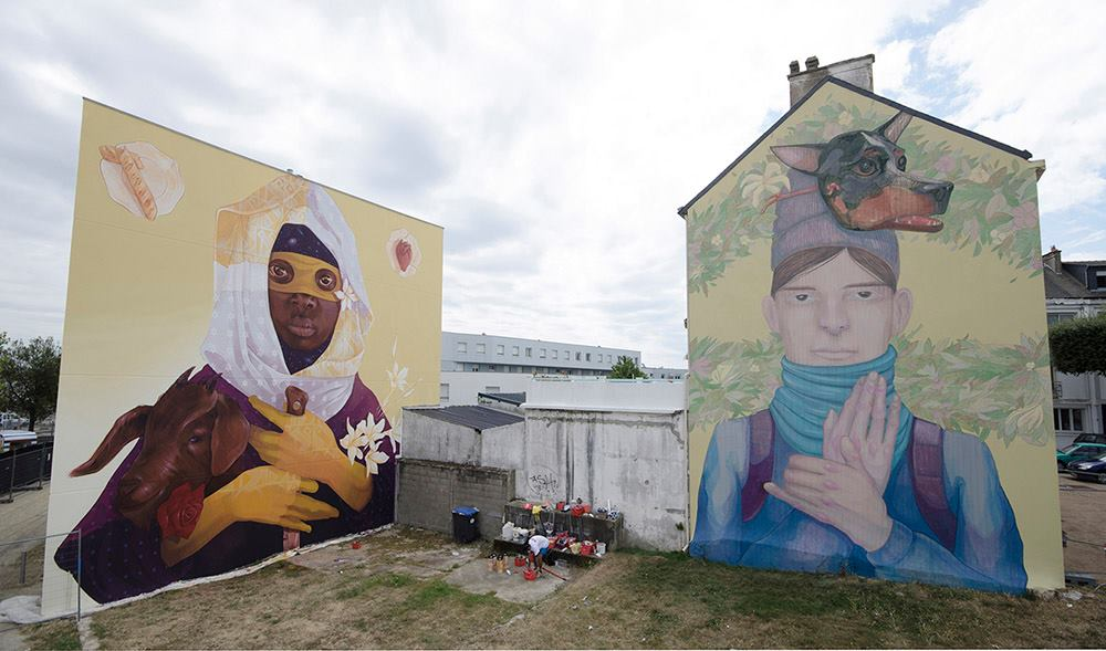 New INTI & L.R.M. wall for Festival Les Escales, FR