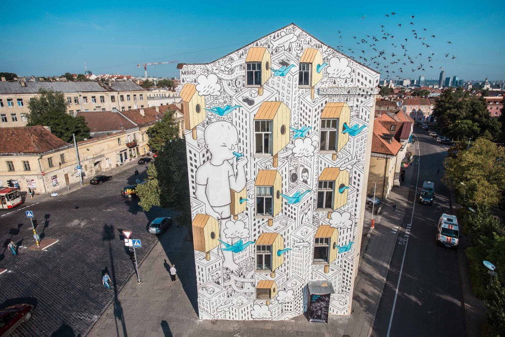 MILLO completes his mural in Lithuania