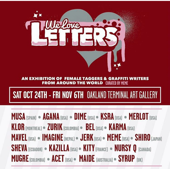 "Group exhibition ""We Love Letters"" Oakland, EE UU"