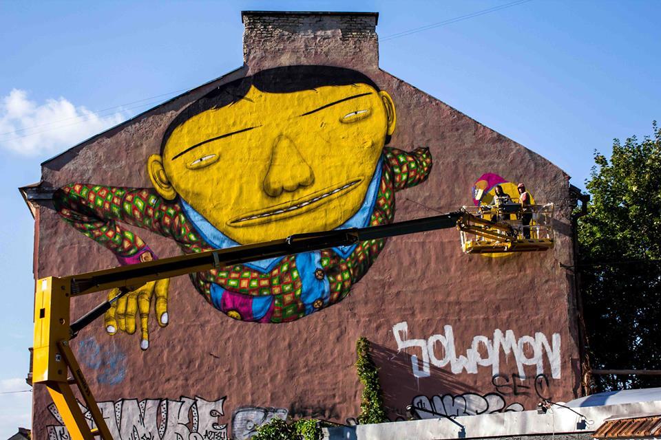 OSGEMEOS mural for Vilnius Street Art Festival