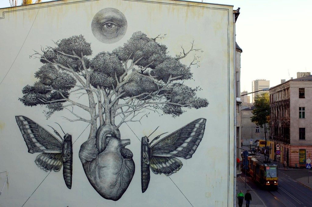 Alexis Diaz 's new mural in Lodz