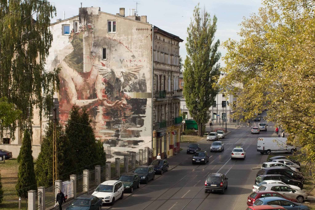 Murals in Lodz, Poland