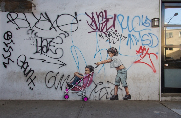 Ernest zacharevic. You be the Kid, ill be the Mum. 1268 Myrtle Brooklyn, NY 11221