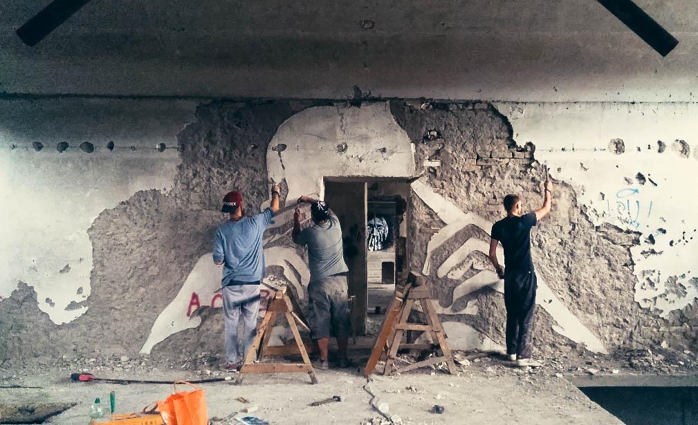 Street Artists transform factory into an Art Gallery