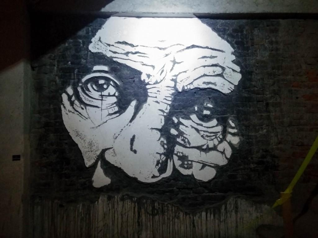Abandoned Factory Transformed Into An Art Gallery By Street Artists_The Black Tear_400x220x10 cm wallcut