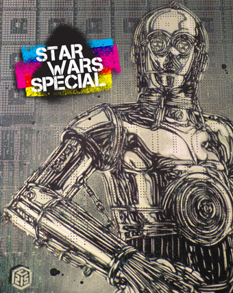 Four days  to go before Star Wars VII – Today's special : Chewbacca & C3PO