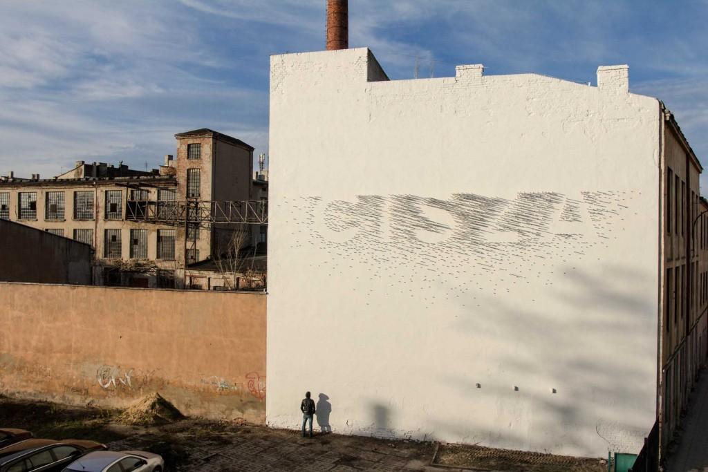 """CISZA"" | ""SILENCE"" installation – Lodz Murals"