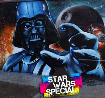 Five days  to go before Star Wars VII – Today's special : Darth Vader Street Art