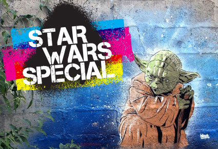 Seven days to go before Star Wars VII – Today's special : Yoda Street Art