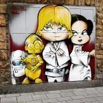 Star Wars - Lue Skywalker and Leia Street Art