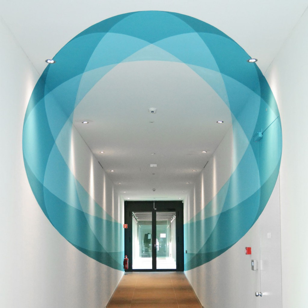 Abstract anamorphic circle by Truly Design