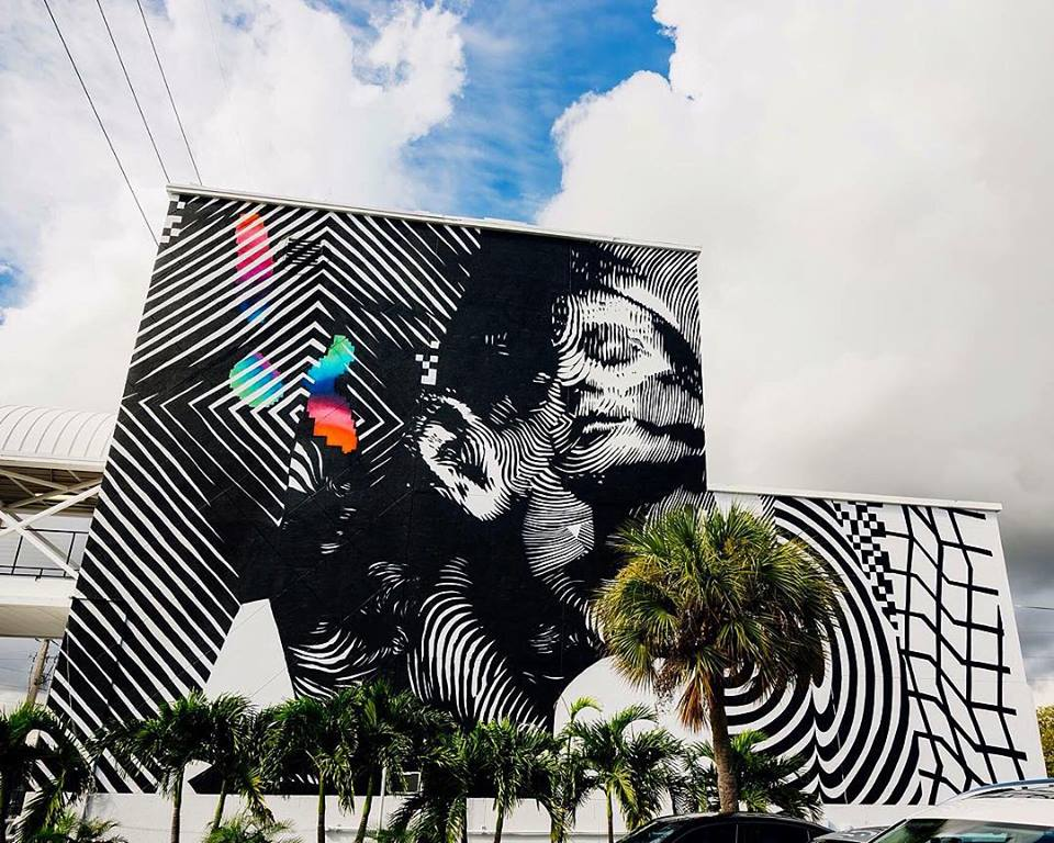 Felipe Pantone with 2Alas in Miami Wynwood
