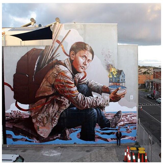 Fintan Magee in Melbourne, Australia with Juddy Roller